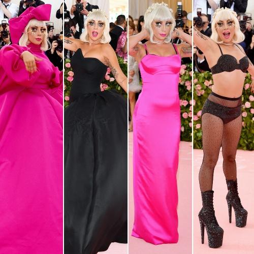 Lady Gaga 2019 MET Gala' gecesinde 4 kıyafet değiştirdi.