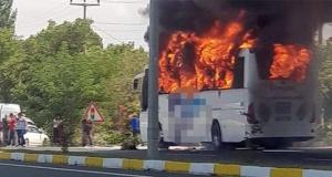 Balıkesir'de yolcu otobüsü yandı: 5 yolcu öldü