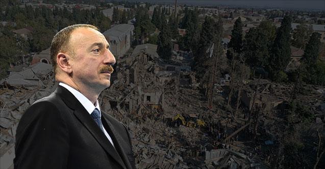 """Aliyev'den """"Gence"""" açıklaması!"""