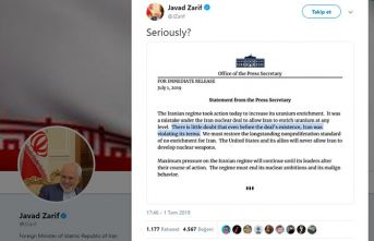 İran'dan ABD'ye bir kelimelik cevap!