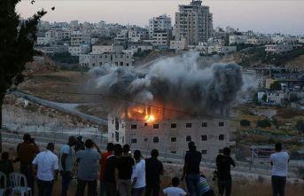 İşgalci İsrail böyle hava uçurdu