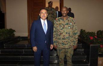 Çavuşoğlu, Org. el-Burhan ile görüştü