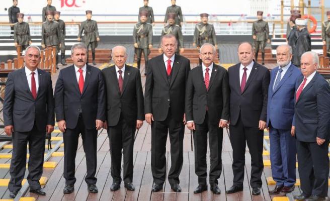 Liderlerden Samsun'da 'beraberlik' pozu