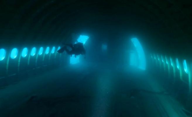 Saros'a batırılan uçağa dalış yapıldı