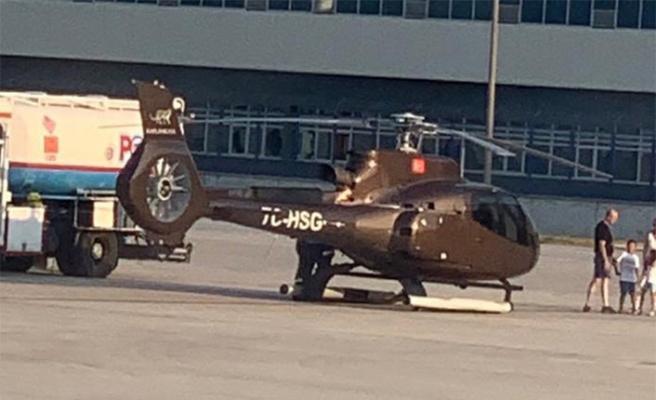 THY uçağı kalkarken önüne helikopter indi!