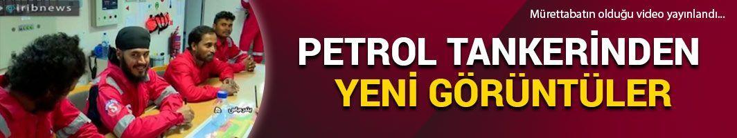 İran'ın alıkoyduğu petrol tankerinden yeni görüntüler...