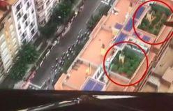 Esrar yetiştirenler, bisiklet yarışı kamerasına takıldı