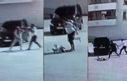 Darp etti, bayılttı, tekmeledi, arabayla ezip kaçtı!