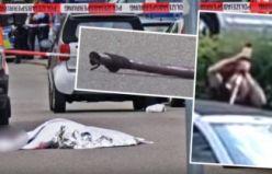 Almanya'da sokakta vahşi cinayet: Otomobildeki sürücüyü kılıçla parçaladı