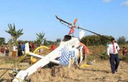 Endonezya'da helikopter düştü: 4 ölü