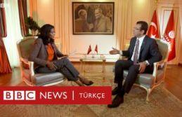 """İmamoğlu'ndan BBC'ye """"cumhurbaşkanı""""..."""