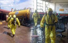 Su basan okulda zehirli gaz paniği!