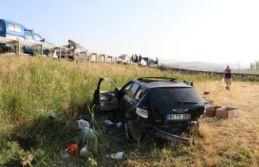 Uzman çavuşlar kaza yaptı: 2 ölü, 1 yaralı
