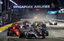 Formula 1 heyecanı Singapur'da!