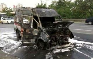 Ambulansta patlama! 3 aylık bebek öldü