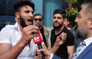 'Kafa keseceğim' diyen Suriyeli gözaltında!
