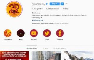 Galatasaray Instagram'da dünya ikincisi oldu