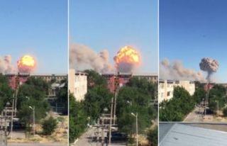 Silah deposunda patlama: Şehir boşaltılıyor!