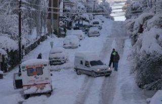 Arjantin'de kış rüzgarları!