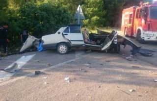 Feci kaza! Yolcu otobüsüyle çarpıştı