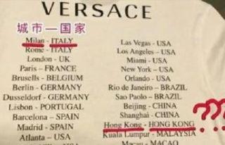 Versace, Çin'den özür diledi