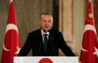 Erdoğan sporcu ve sanatçılarla bir araya geldi