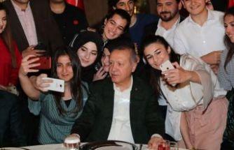 Cumhurbaşkanı Erdoğan Dolmabahçe'de gençlerle buluştu
