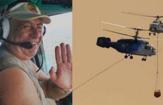 İzmir yangınında görev alan pilot öldü