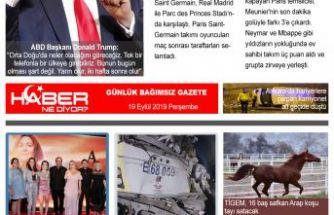 19.09.2019-Gazete Haber NeDiyor