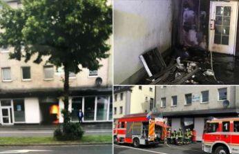 Almanya'da cami ateşe verildi!