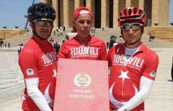Emanet bisikletlerle Samsun'a teslim edildi