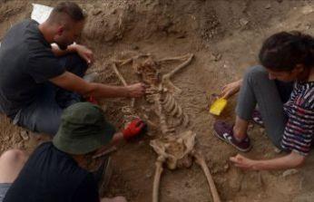 Sinop'ta arkeologları şok eden iskelet!