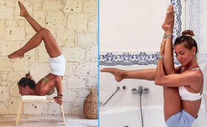 Zeynep Tokuş'tan yoga dersleri