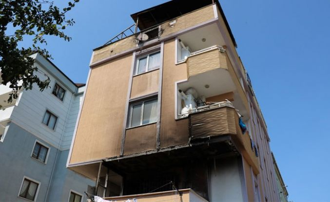 4 katlı binada yangın paniği!