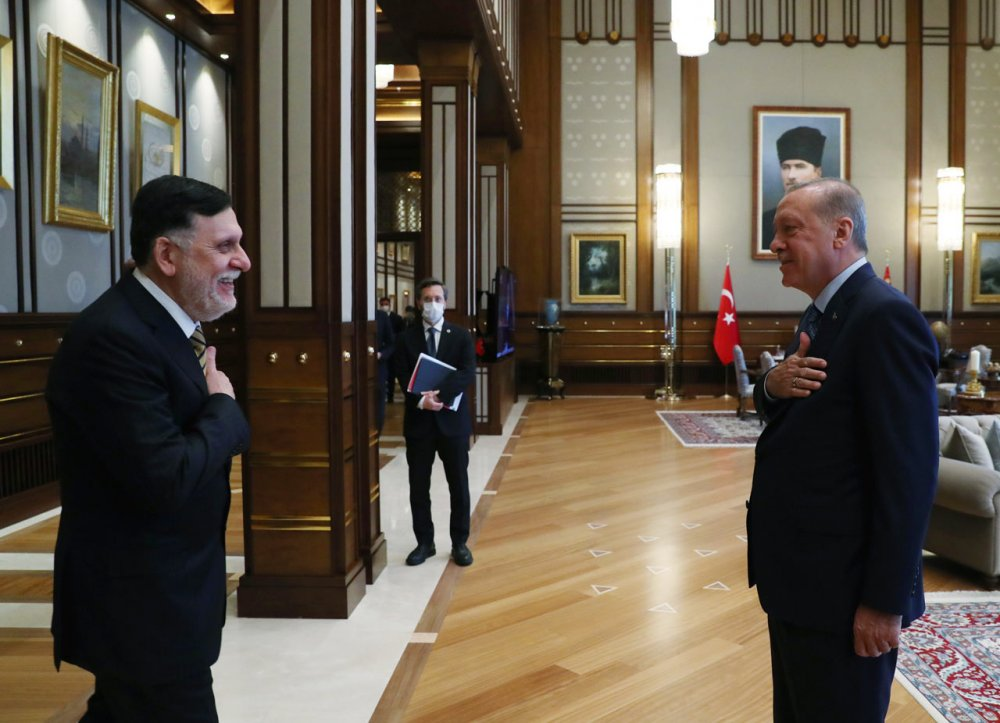 Erdoğan ile Libya Başbakanı Fayiz es-Serrac