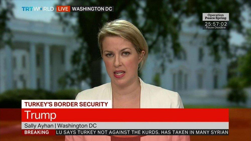 TRT World Washington muhabiri Sally Ayhan