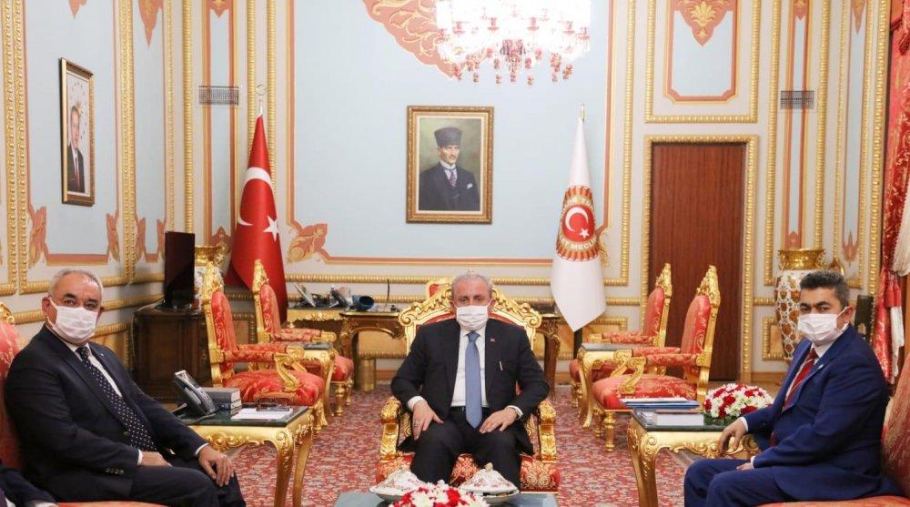 DSP Önder Aksakal TBMM Başkanı Mustafa Şentop