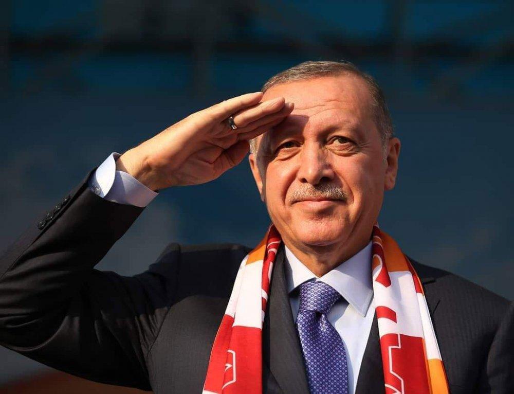 Erdoğan asker selamı