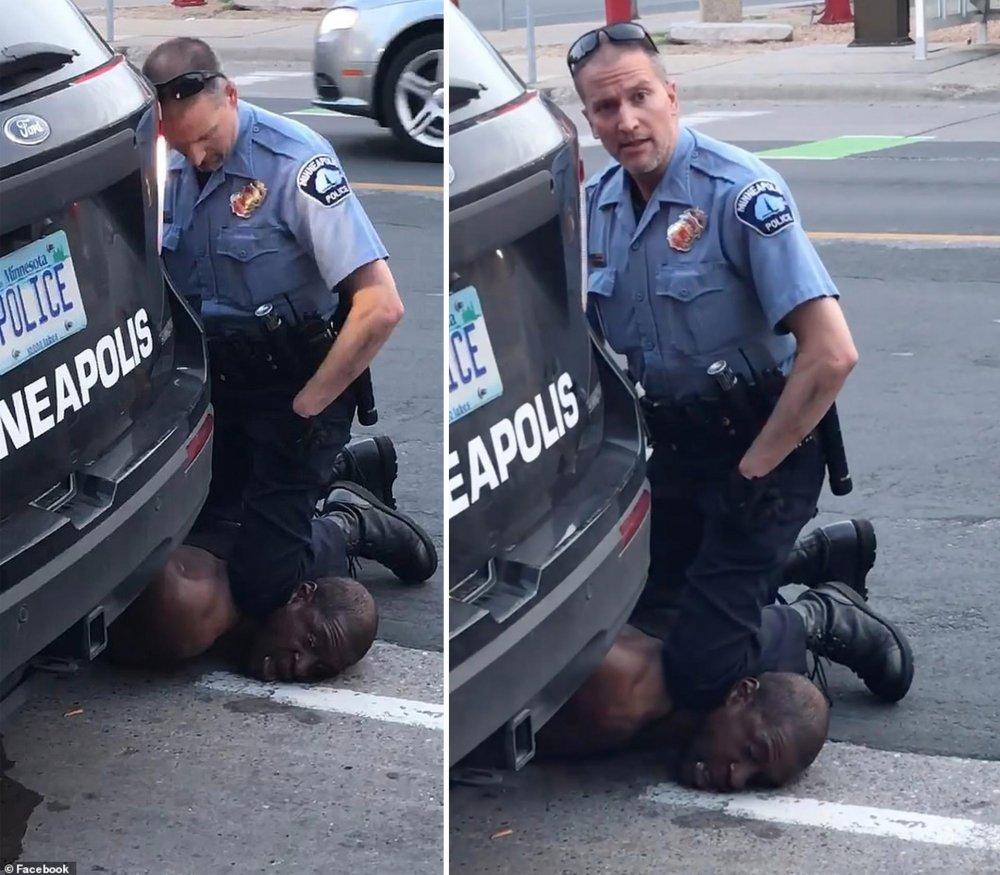 amerikan polisinin öldürdüğü siyahi George Floyd