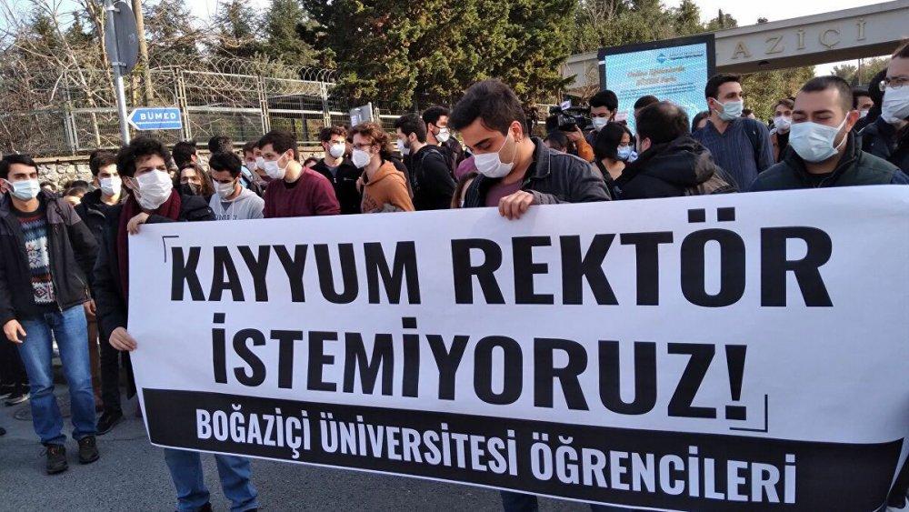 Boğaziçi Üniversitesi protesto gösterisi