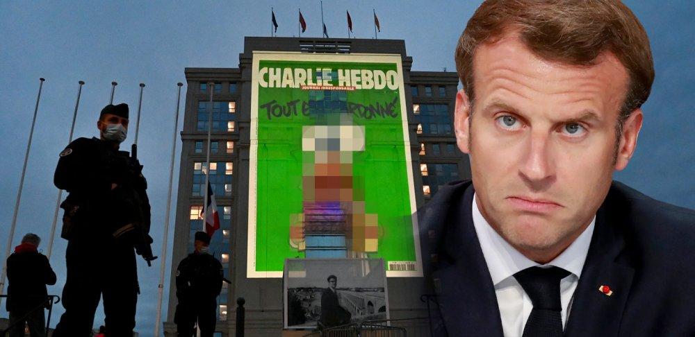 Fransa Hz. Muhammed hakaret karikatür Macron