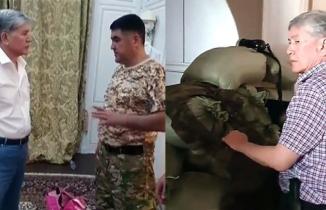 Atambayev polise siper aldı