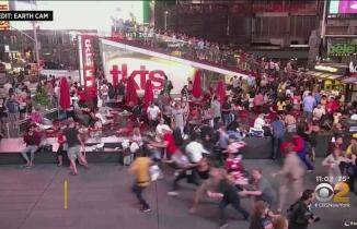 Times Meydanında panik: Motor sesini patlama sandılar